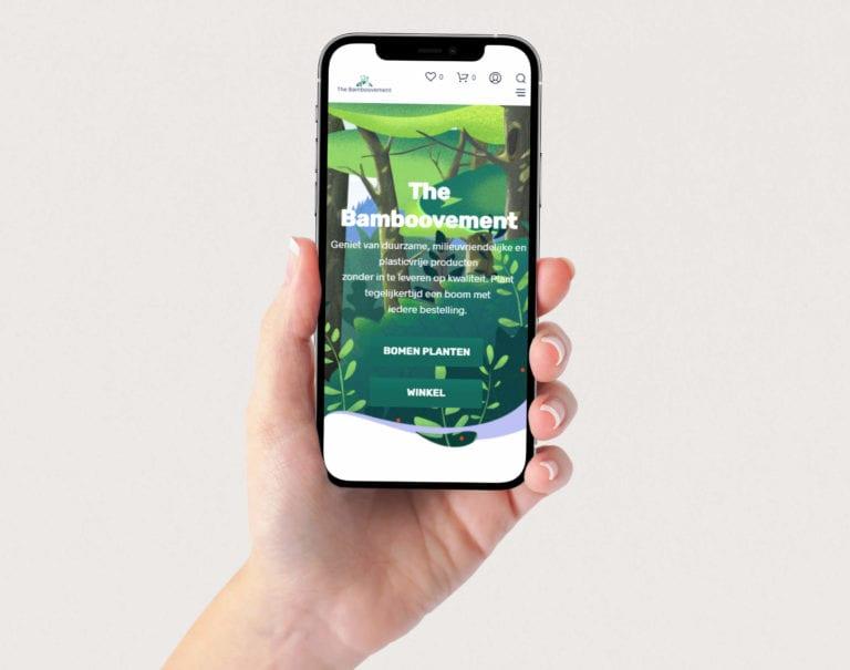 Bamboovement website op mobiel